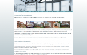 Coventry Conservatories SEO results