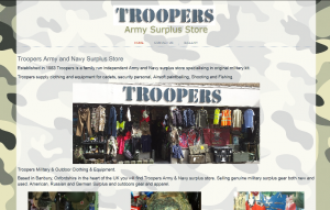 Troopers Army and Navy Surplus Store